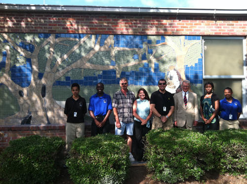 Mayor Joseph RIley with student artists
