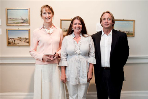 Annie Purvis (center) with artists Mary Whyte and Smith Coleman.