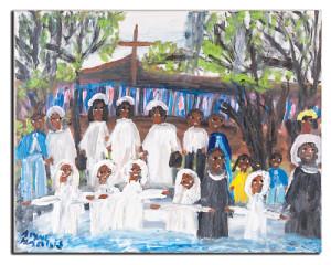 The Baptism, n.d., by Alyne Harris (American, b.1943)
