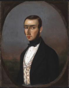 Portrait of a Man, Called a Self-Portrait, 1839, by Julien Hudson