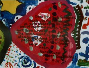 Porter-Gaud School Student Mural, heart detail