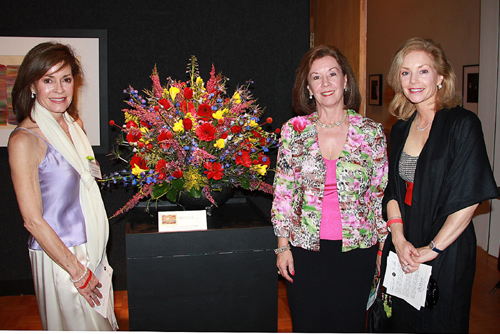 Joanne Harth, Beatty Martin, and Debbie Fisher at Fine Art and Flowers, March 2011.