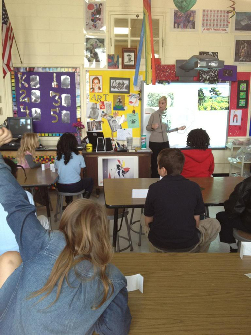 Debby Passo in the classroom at St. Andrew's Math and Science Elementary School.
