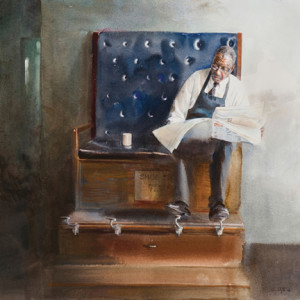 Shoe Shine, 2008, by Mary Whyte