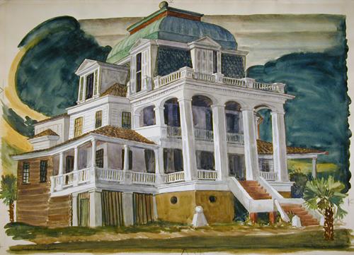 Carpet Bagger's Grandeur, Sullivan's Island, 1937, by Prentiss Taylor