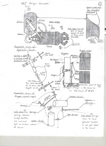 A mechanical drawing shows the design of a mechanical arm.