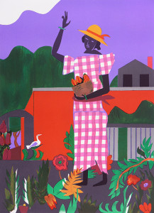 In the Garden, 1979, by Romare Bearden (1911-1988)