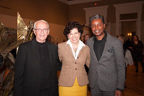 Richard Weedman, Gibbes Executive Director Angela Mack, and Jonathan Green.
