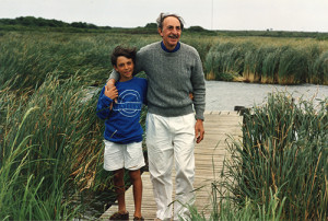 Andreas Karales and his father, James