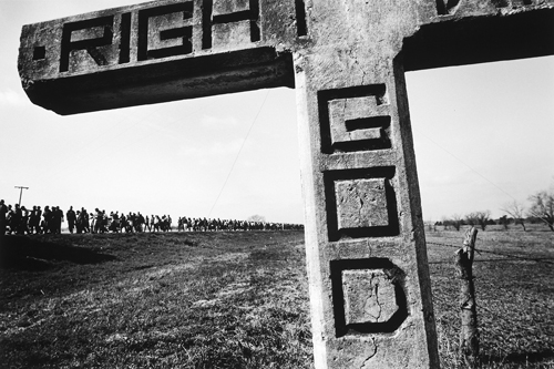 """""""Get Right with God"""" Sign on Highway 80, Selma to Montgomery March, 1965, by James Karales"""