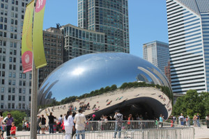 "The Cloud Gate, aka ""The Bean,"" by Anish Kapoor (British (born India) 1954)"