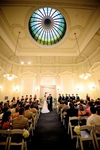 Wedding Ceremony in Gibbes Rotunda