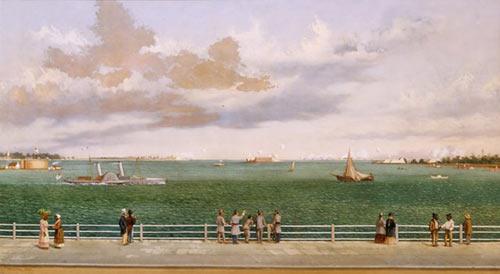 Bombardment of Fort Sumter, Charleston Harbor, South Carolina, 1863, by William Aiken Walker