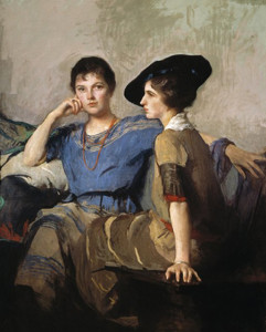 The Sisters, 1921, by Edmund Charles Tarbell (American, 1862 - 1938)