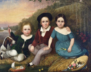 Untitled (Three Toomer Children), 1849, by Lewis Towson Voight