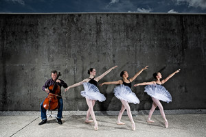 Cellist Tim O'Malley and Charleston Dance Institute Dancers. Photo by Tom McCorkle