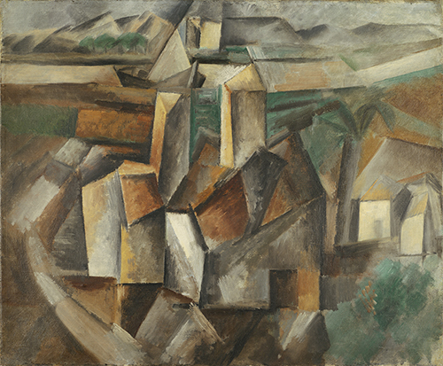 The Old Mill, ©Estate of Pablo Picasso/Artists Rights Society (ARS) New York; by Pablo Picasso, oil on canvas; 15 x 18 inches, Leonard A. Lauder Cubist Trust.