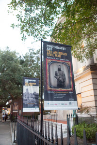 Exhibition banners along Meeting Street