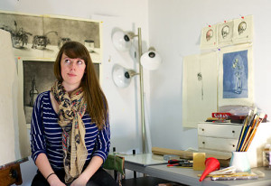 Kate MacNeil in her studio