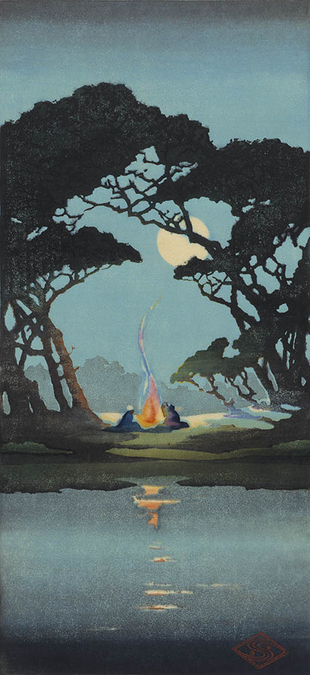 Moonlight on the Cooper River, ca. 1919, by Alice Ravenel Huger Smith (American, 1876–1958).