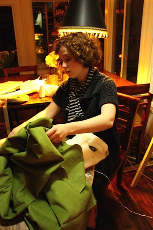 Julia at work on the Gibbes Gator