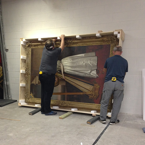 phase 3 crating large painting