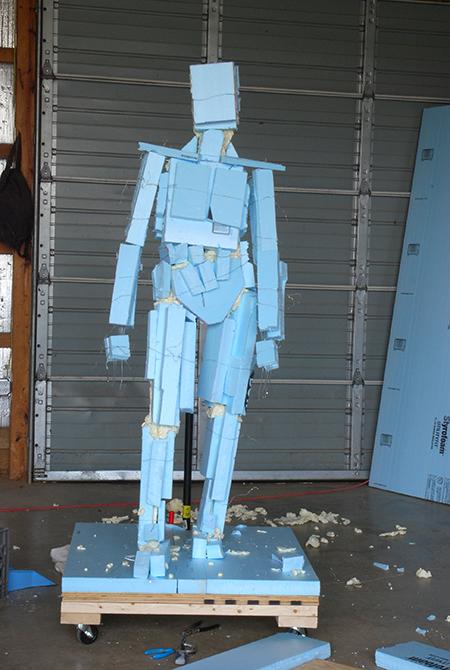 Rick Weaver's sculpture of Judge Waites Waring