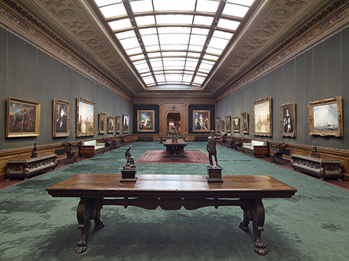 West Gallery, 2010 (new lighting installed)
