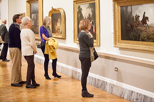 Visitors at the Gibbes Museum of Art.