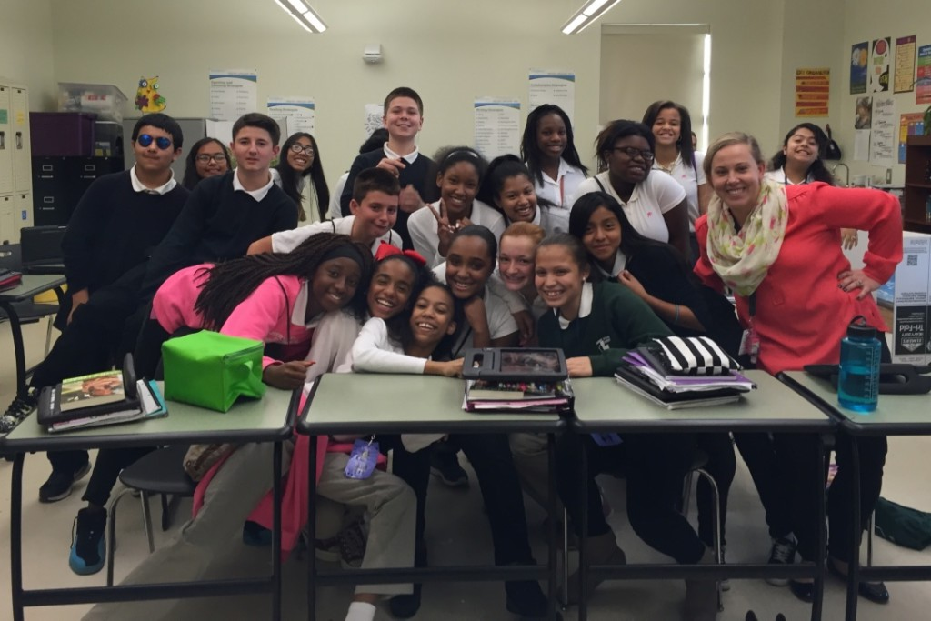 Zucker Middle School students