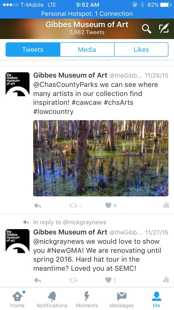 Gibbes Twitter feed screenshot