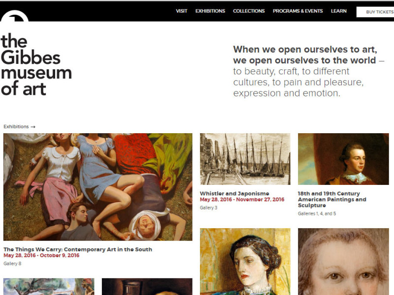 gibbesmuseum.org home page