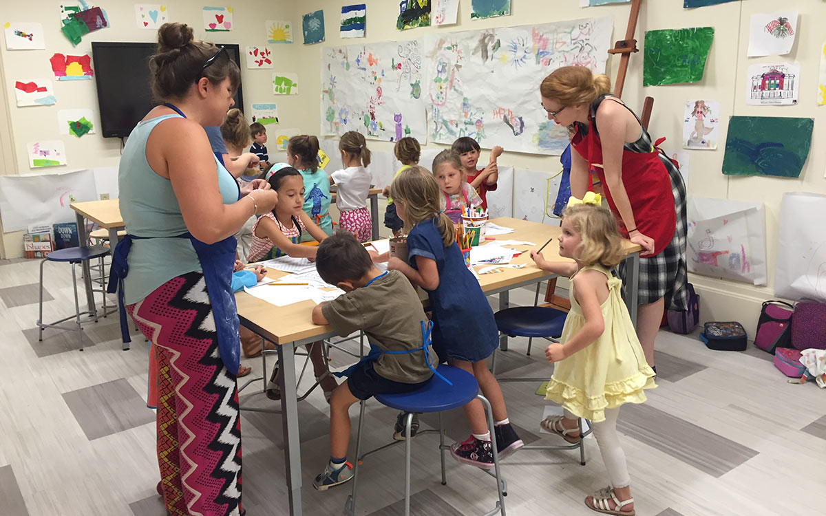 Summer art camp at the Gibbes