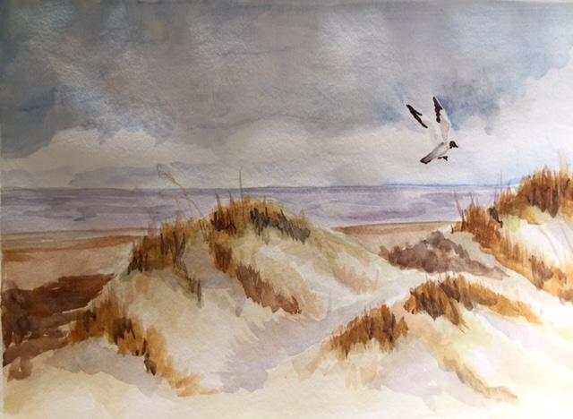 Seascape watercolor by Alison Ross
