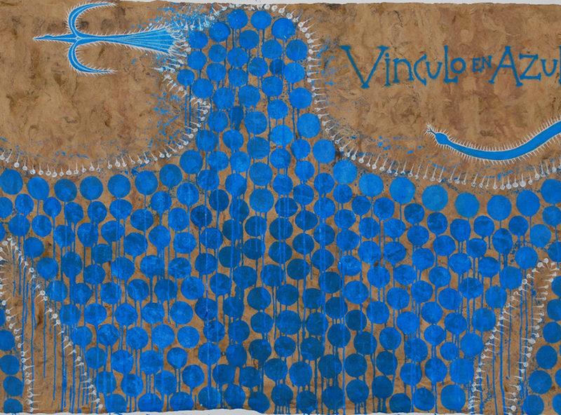 Vinculo en Azul, by José Bedia