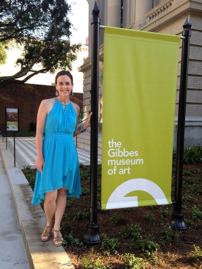 Erin Banks in front of the Museum