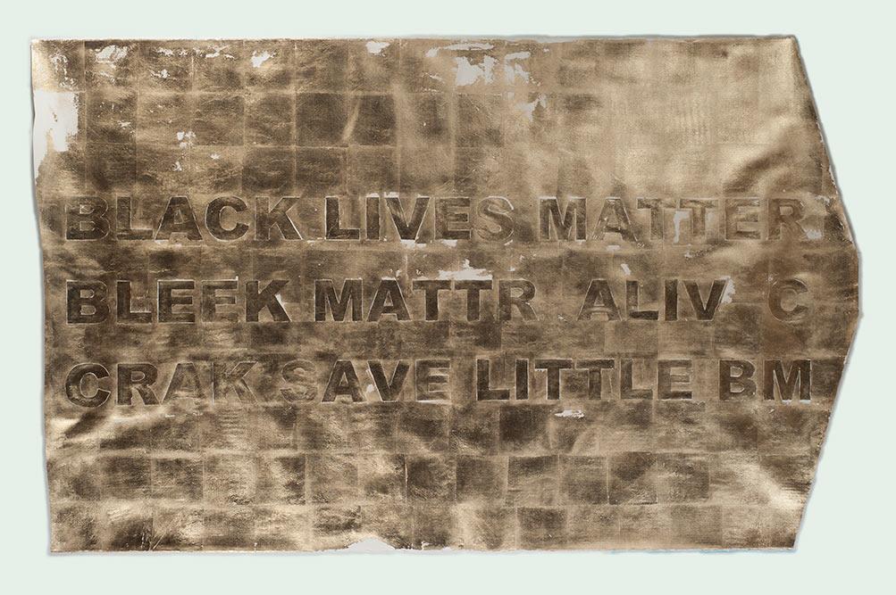 BLACK LIVES MATTER (Tranformation), 2016. by Stacy Lynn Waddell
