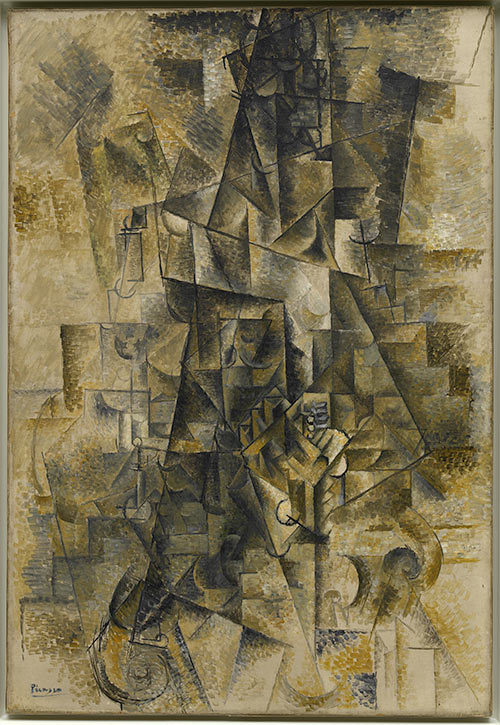 Accordionist, Ceret, summer 1911, by Pablo Picasso (1881 – 1973)