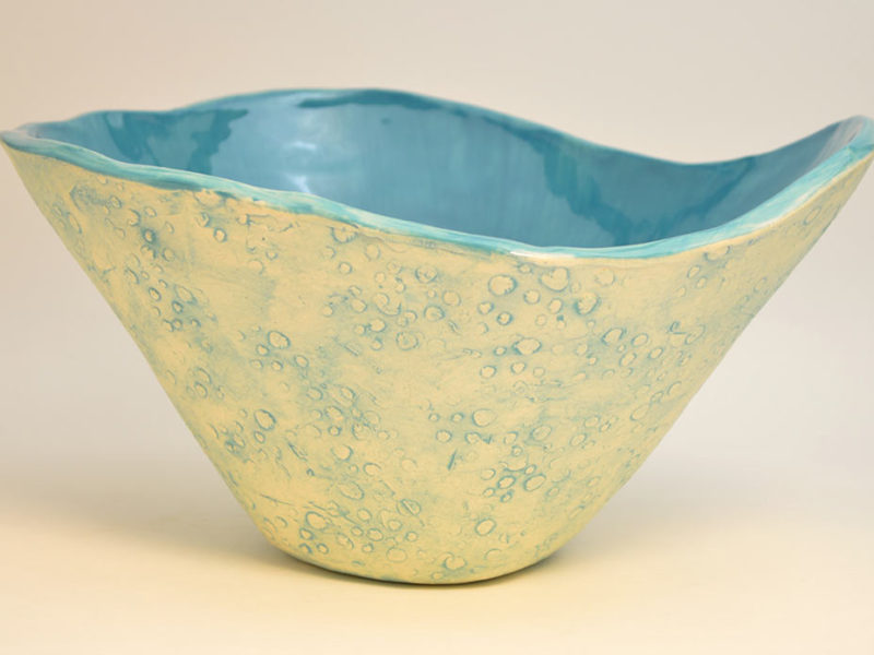 Turquoise Crater Bowl, 2016, by Liv Antonecchia
