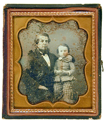 John Blake Washington and His Eldest Son, William Washington, by unknown artist