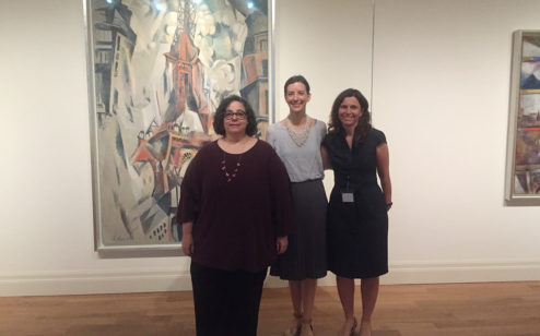The curatorial dream team, Tracey Bashkoff, Lauren Hinkson, and Sara Arnold.