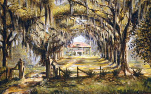 Boone Hall Plantation, ca. 1925, by Edwin Harleston