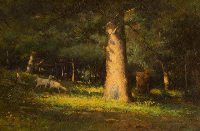 Sunlight in the Forest, 1891, by Elliott Daingerfield