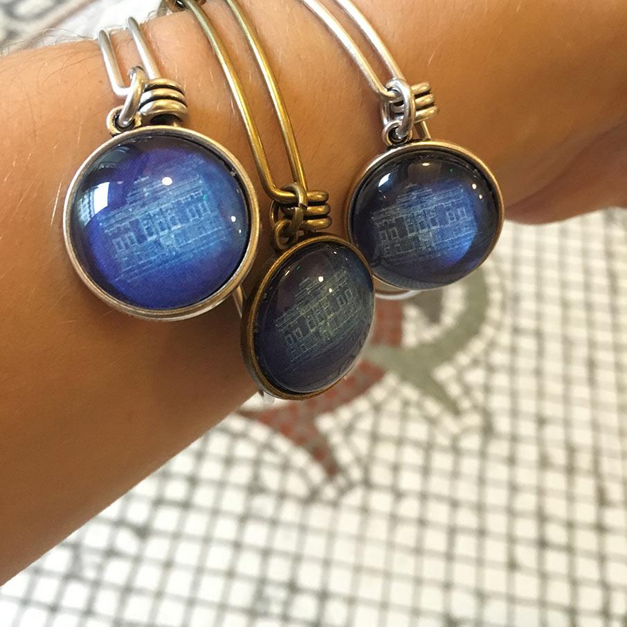 Charleston Map Jewelry bangles