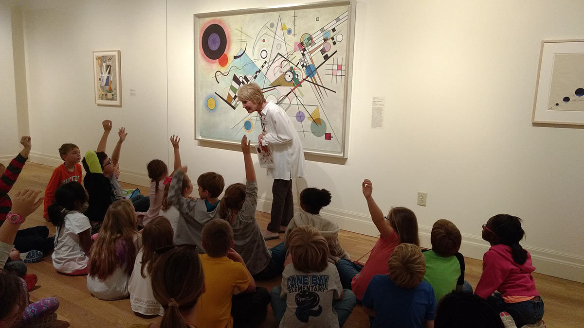 Cane Bay Elementary third-graders react to a Kandinsky painting