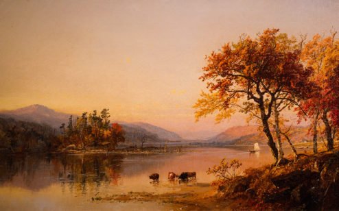 Autumn Afternoon, Greenwood Lake, 1873, by Jasper Francis Cropsey