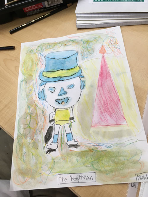 A USLC student's creation of a Charleston icon inspired by a Chagall painting.