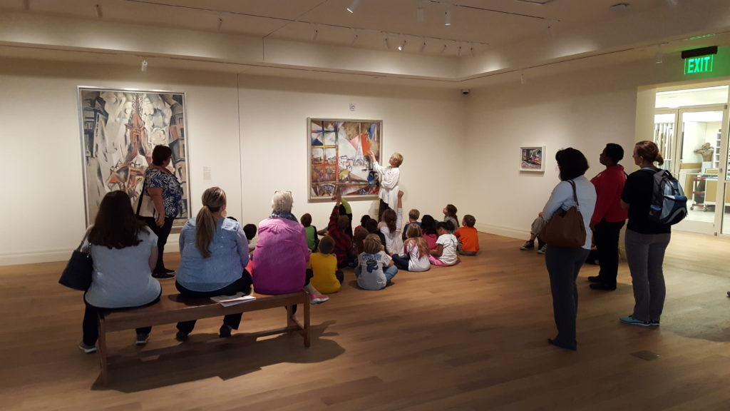 Students learn about Chagall, Delaunay and other abstract artists