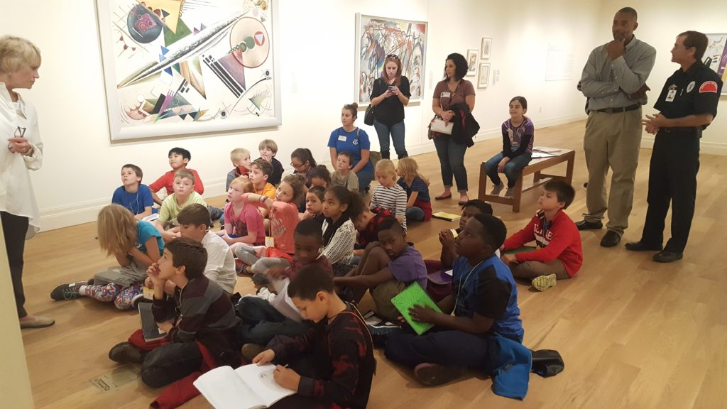 Students learn about non-objective artworks
