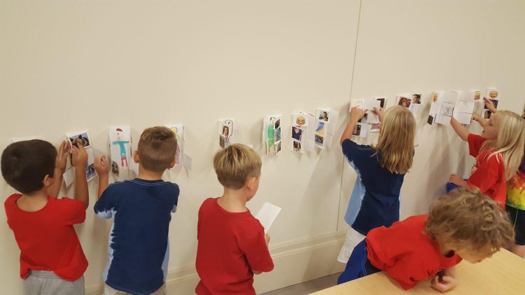 Children create their own flipbook portraits